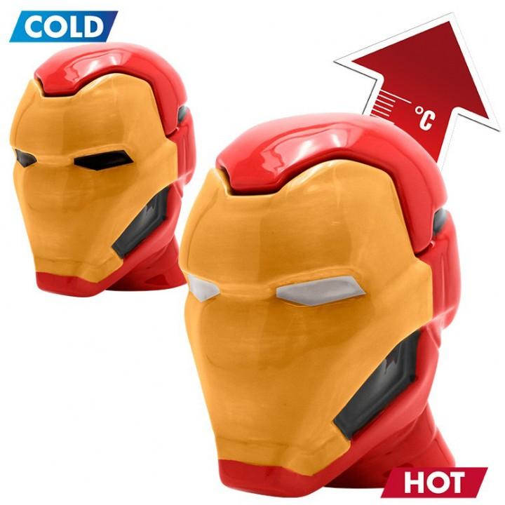 Чашка-хамелеон Abystyle Marvel - Iron Man 3D Mug, ABYMUG421