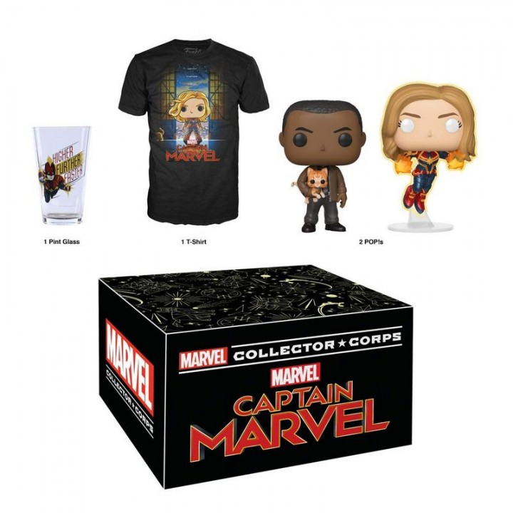Funko Marvel Collector Corps: Captain Marvel Box / Коллекционный набор Фанко: Капитан Марвел