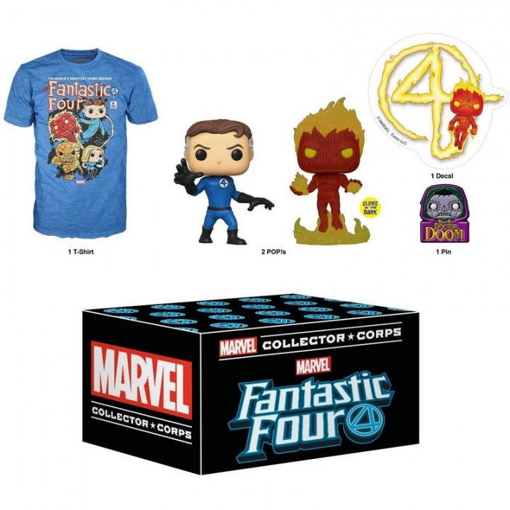 Funko Marvel Collector Corps - Fantastic Four Box / Коробка Фанко Фантастическая Четвёрка, 45778