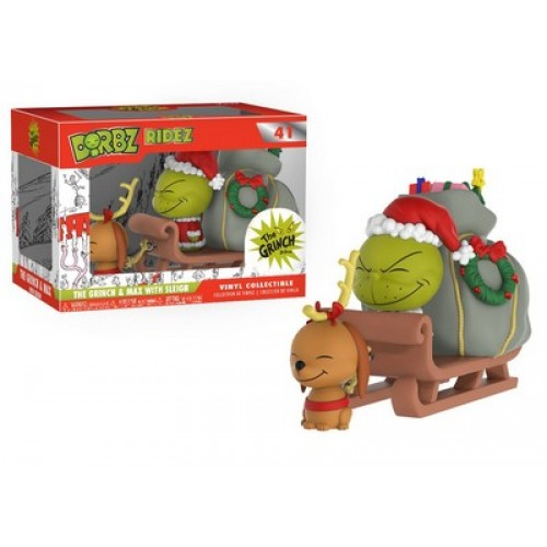 Funko Dorbz Ridez: Dr. Seuss - The Grinch & Max with Sleigh / Фанко: Доктор Сьюз - Гринч и пес Макс