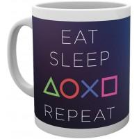 Чашка GB eye Playstation - Eat-Sleep-Repeat Mug