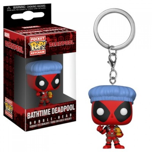 Funko Pocket Pop! Keychain: Marvel - Bathtime Deadpool / Брелок Фанко Поп: Дэдпул