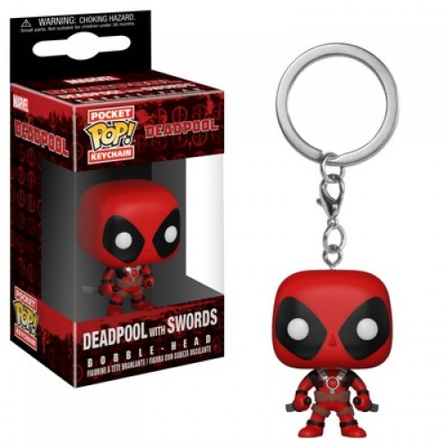 Funko Pocket Pop! Keychain: Marvel - Deadpool with Swords / Брелок Фанко Поп: Дэдпул