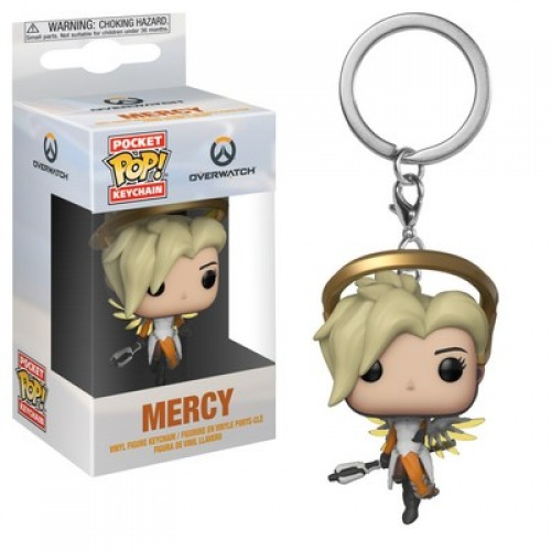 Funko Pocket Pop! Keychain: Overwatch - Mercy / Брелок Фанко Поп Overwatch