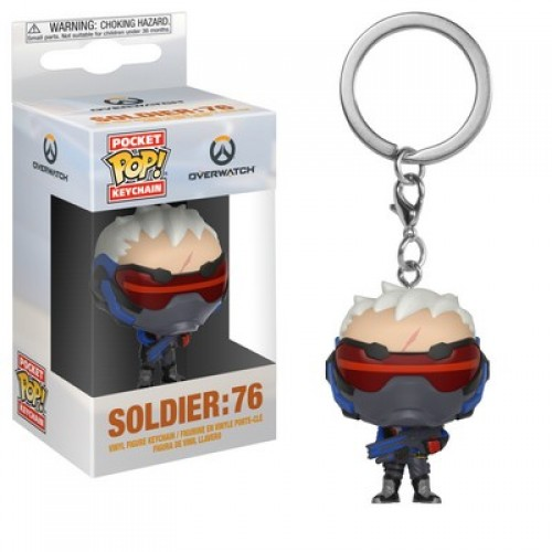 Funko Pocket Pop! Keychain: Overwatch - Soldier: 76 / Брелок Фанко Поп Overwatch
