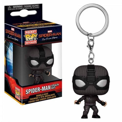 Брелок Funko Pop Keychain Spider-Man Stealth Suit (Far from Home) / Фанко Поп Человек-паук (Вдали от дома)