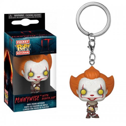 Брелок Funko Pop Keychain IT 2 - Pennywise with Beaver Hat