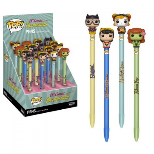 Funko Pop! DC Comics: Pen Topper - Bombshells / Набор ручек Фанко: DC Comics