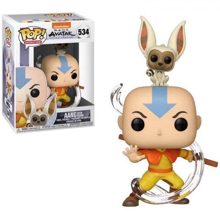 Фигурка Funko Pop Avatar The Last Airbender - Aang with Momo / Фанко Поп Аватар Легенда об Аанге и Момо, 36463