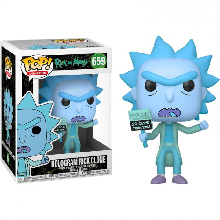 Фигурка Funko Pop Rick and Morty - Hologram Rick Clone #659 / Фанко Поп Рик и Морти