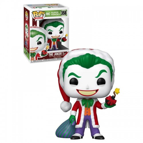 Фигурка Funko Pop DC Holiday - The Joker as Santa / Фанко Поп Джокер
