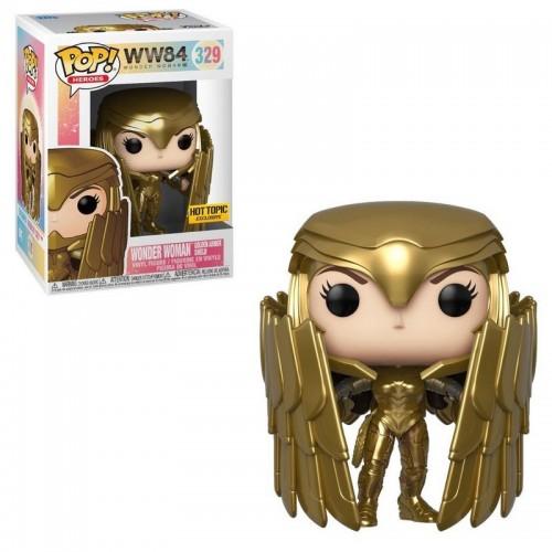 Фигурка Funko Pop WW84 - Wonder Woman Golden Armor Shield #329 / Фанко Поп Чудо-женщина 1984