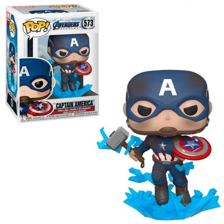 Фигурка Funko Pop Avengers Endgame - Captain America #573 / Фанко Поп Мстители Финал - Капитан Америка, 45137