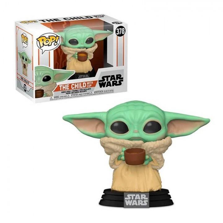 Фигурка Funko Pop Star Wars Mandalorian - Child with Cup (Yoda) / Фанко Поп: Звёздные войны Мандалорец - Бэйби Йода, 49933