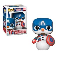 Фигурка Funko Pop Marvel Holiday - Cap Snowman / Фанко Поп Капитан Америка