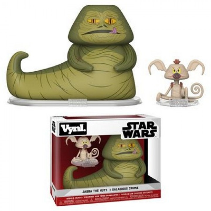Фигурка Funko Vynl Star Wars - Jabba the Hutt and Salacious Crumb, 31850
